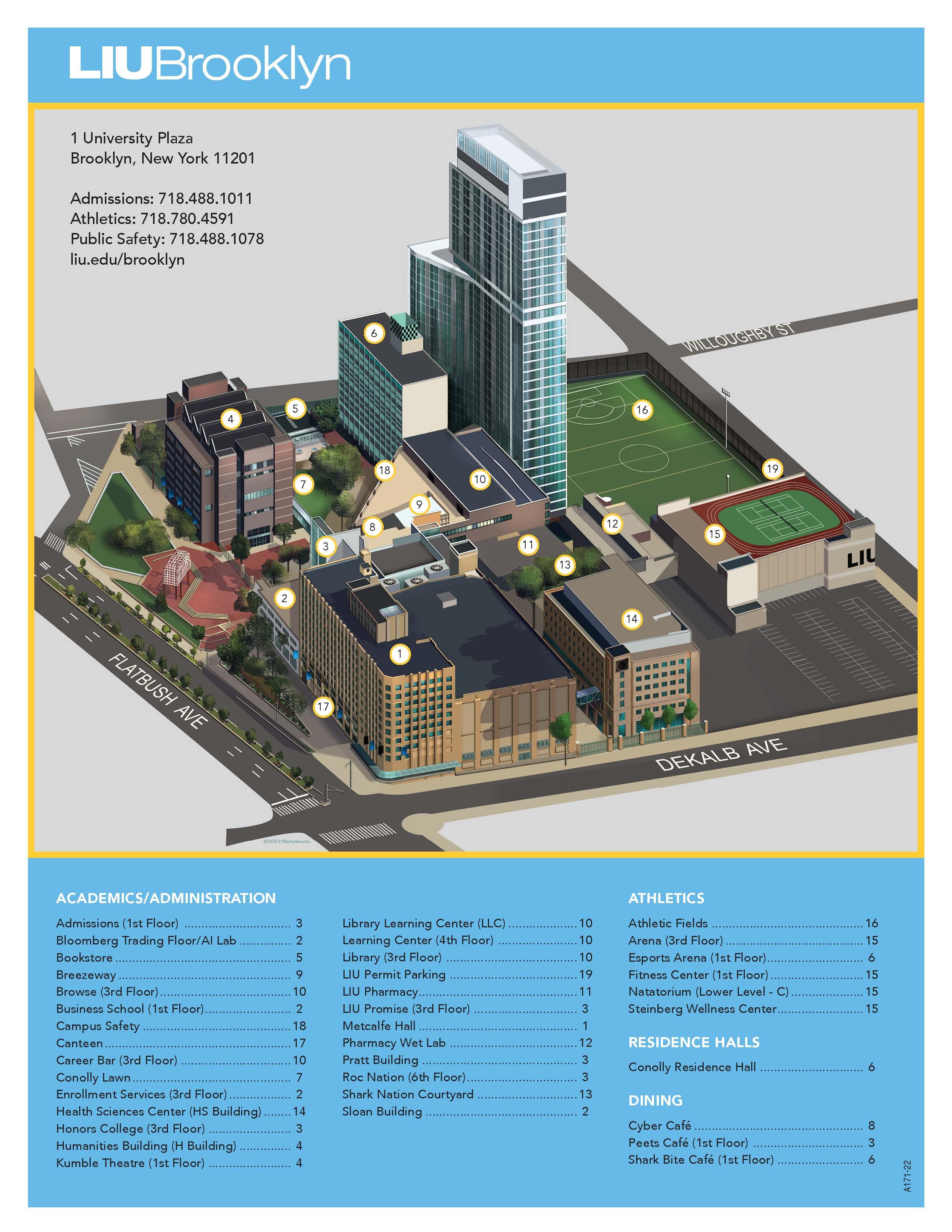 Brooklyn College Campus Map Campus Map | LIU Brooklyn College Campus Map