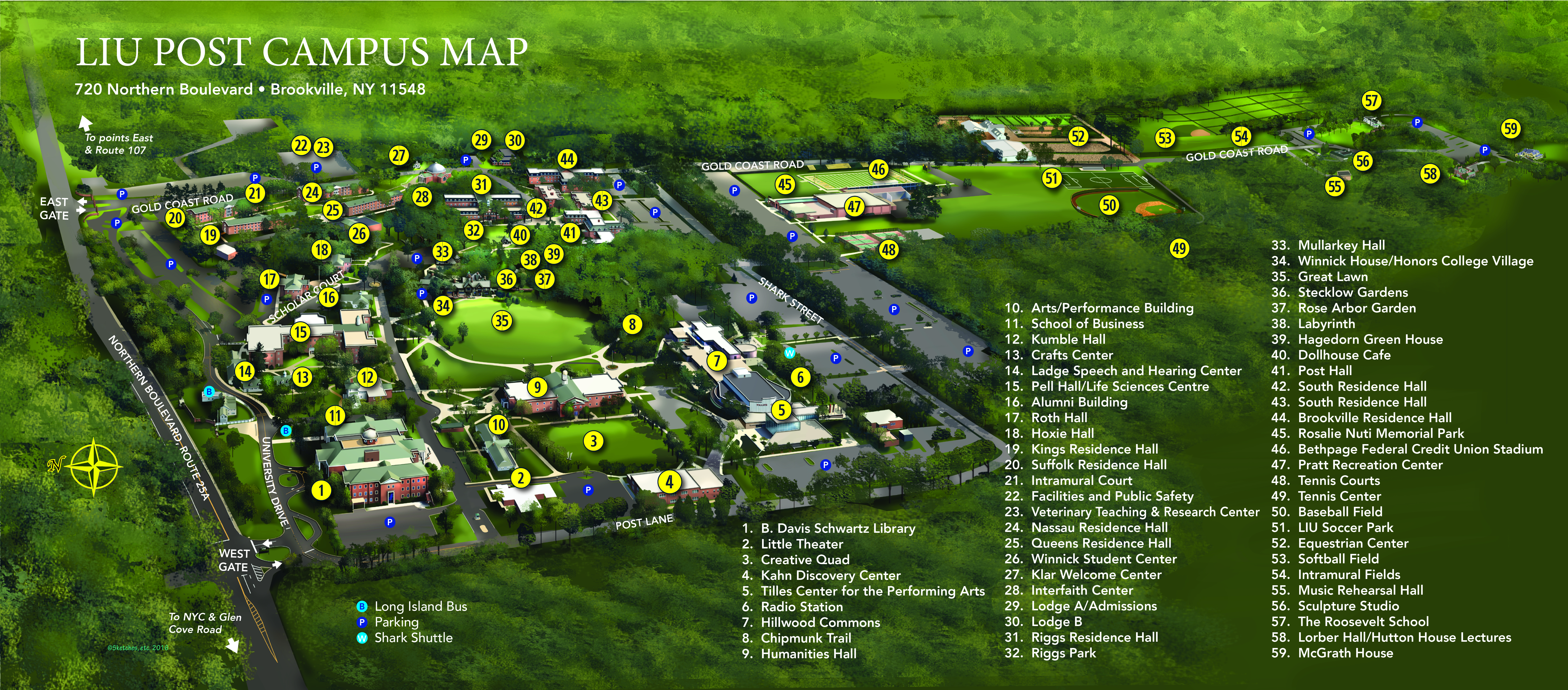 Campus Map | LIU on