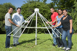 LIU Brooklyn Students Assemble New Radio Telescope for Astrophysics Research.