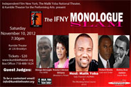 LIU Brooklyn Independent Film New York Monologue Slam November 10, 2012