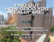 LIU Brooklyn Pharmacy Admitted Student Reception March 15, 2013