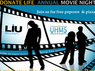 LIU Brooklyn Donate Life Movie Night April 11, 2013