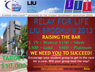 LIU Brooklyn Relay for Life Raising the Bar 2013