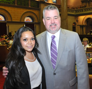 Danielle Chin and Assemblymember Daniel O'Donnell