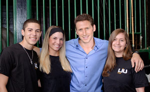 Royal Pains Star with Students