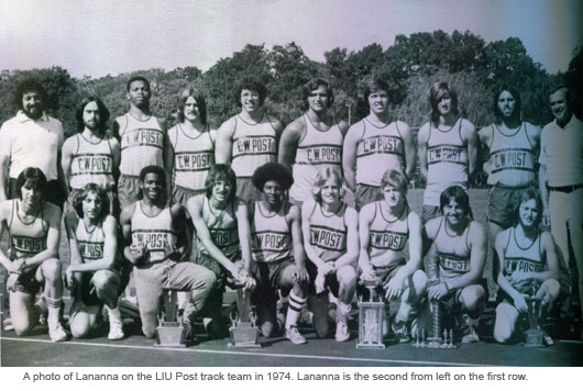 Vin Lananna on track team