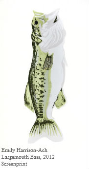 Emily Harrison-Ach, Largemouth Bass, 2012, Screenprint