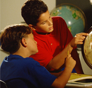 Students Studying Earth Science