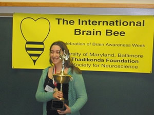 2006 Long Island University, CWP winner Emily Weil at International Brain Bee Competition.