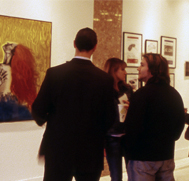 Students at Gallery
