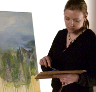 Student at Easel