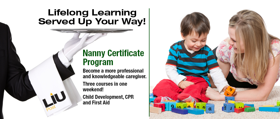 Nanny Certificate Program Become a more professional and knowledgeable caregiver. Three courses in one weekend! Child Development, CPR and First Aid